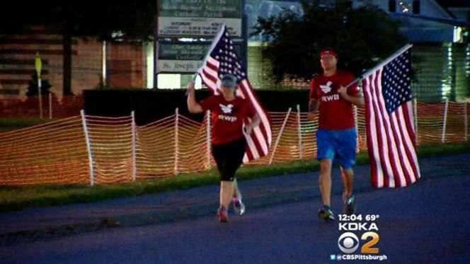 Local Group Keeping Flag Moving To Remember9/11